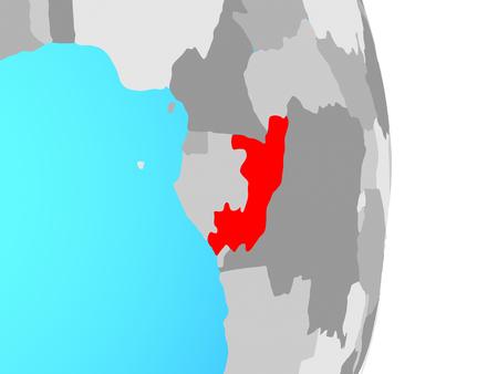 Congo on simple political globe. 3D illustration. Standard-Bild - 110098519