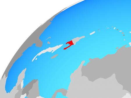 Haiti on globe. 3D illustration. Stock Photo