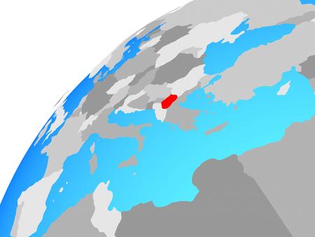 Macedonia on globe. 3D illustration. Stockfoto - 110549669