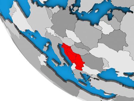 Yugoslavia on simple 3D globe. 3D illustration. Banque d'images - 110548665