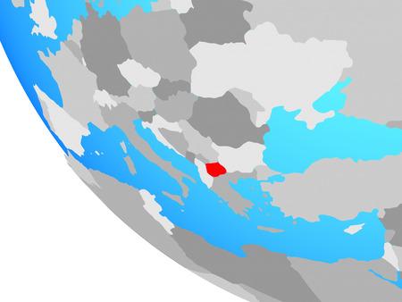 Macedonia on simple globe. 3D illustration. Stockfoto - 112829052
