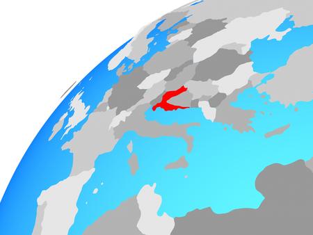 Croatia on globe. 3D illustration. Imagens