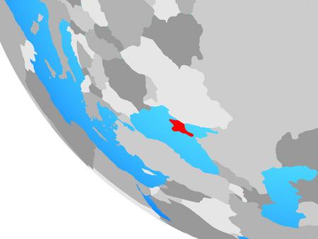 Crimea on simple globe. 3D illustration.