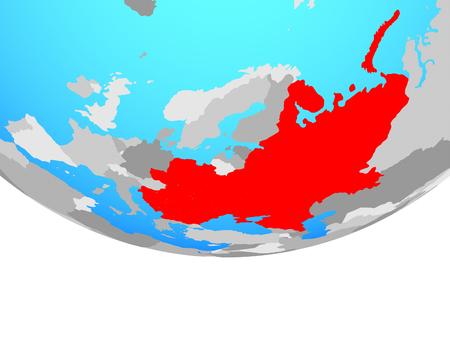 Eastern Europe on simple political globe. 3D illustration.