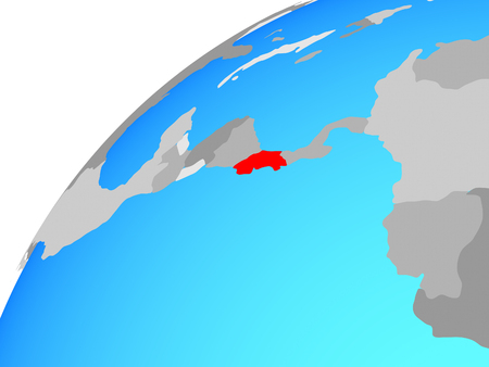 Costa Rica on globe. 3D illustration. 写真素材