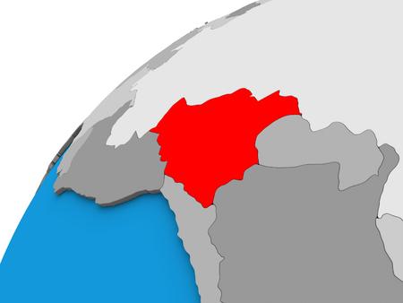 Bolivia on 3D globe. 3D illustration. Reklamní fotografie