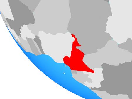 Cameroon on simple globe. 3D illustration. Imagens