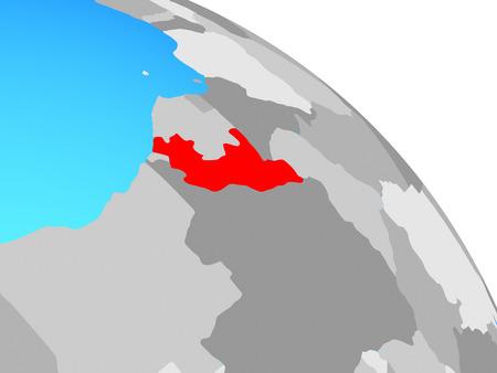 Congo on simple blue political globe. 3D illustration. Standard-Bild - 112256727