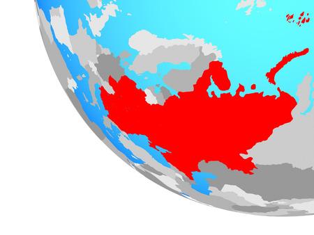 Eastern Europe on simple globe. 3D illustration.