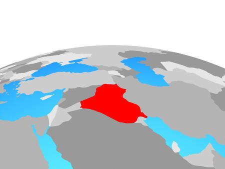 Iraq on political globe. 3D illustration. Stockfoto