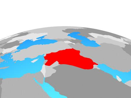Islamic State on political globe. 3D illustration. Stock Photo