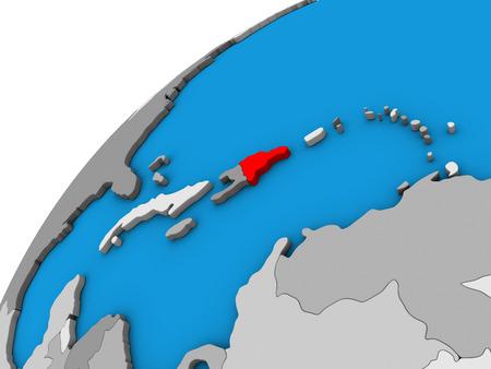 Dominican Republic on 3D globe. 3D illustration. Reklamní fotografie