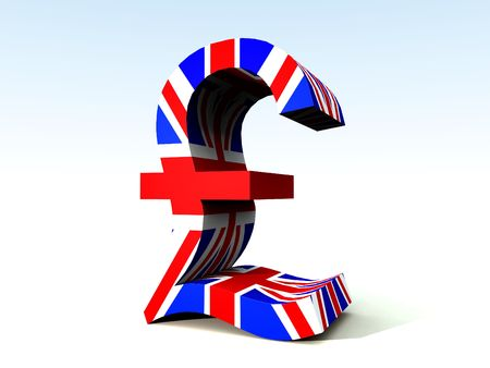dealings: A image of the UK currency symbol.  Stock Photo