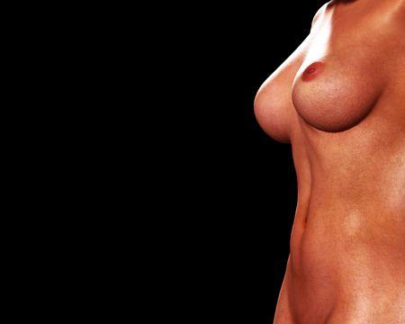 tieten: Een erotische afbeelding van een sexy vrouwelijke lichaam.