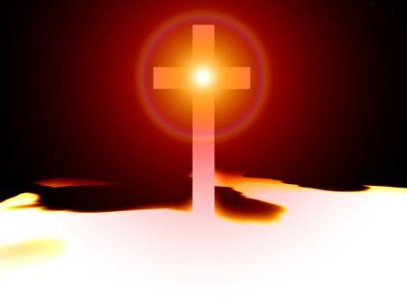 almighty: Una traversa religiosa con una certa illuminazione aggiunta, limmagine � adatta a concetti religiosi.