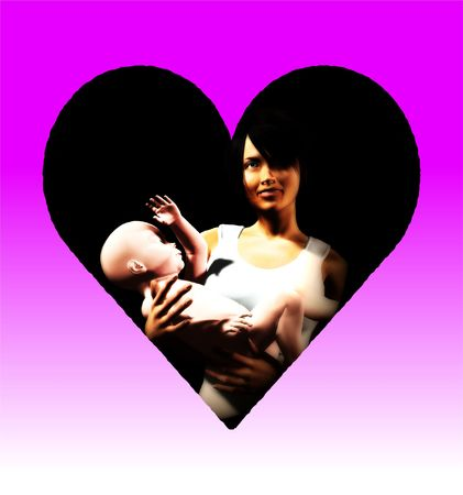 An image of a mother and baby daughter, this image would be suitable for Mothers Day concepts Stock Photo