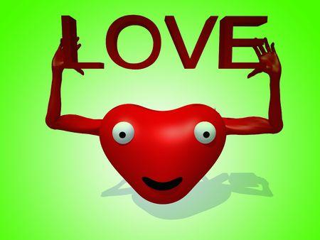symbolize: A happy loving heart for romantic concepts. Stock Photo