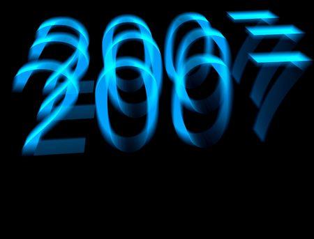 chronology: Una imagen celebrando el a�o 2007.