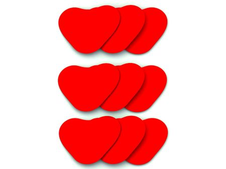 heartshaped: This is a set of loving hearts for romantic concepts. Stock Photo