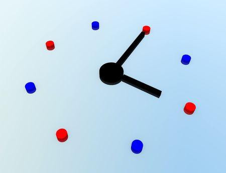 chronologie: A Computer cr�� l'image d'une horloge.