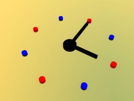 cronologia: Equipo creado la imagen de un reloj.