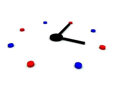 chronology: Un equipo creado la imagen de un reloj.
