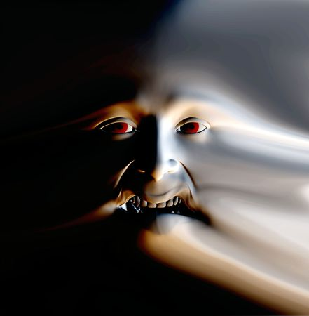My vision of a abstract nightmare with a face that could be in great pain or could be some form of nasty ghost. Stock Photo - 1104884