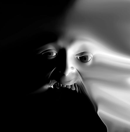My vision of a abstract nightmare with a face that could be in great pain or could be some form of nasty ghost. Stock Photo - 1104881