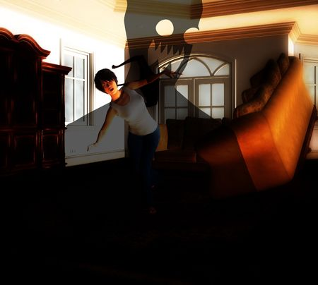 traumatised: A house that is being haunted by a poltergeist.