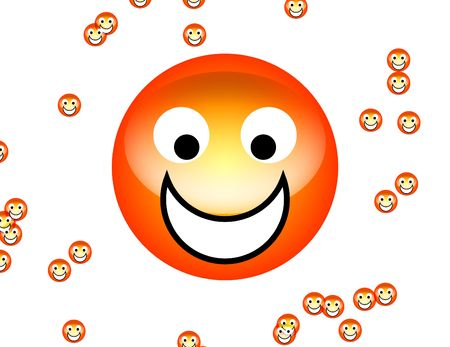 delighted: Happy Faces Stock Photo