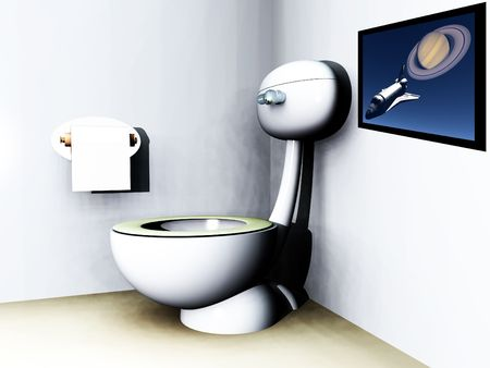 An image of a loo within a bathroom. photo