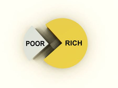 penniless: An image of a graphical pie chart, it could be useful for business concepts.