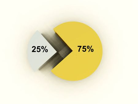 representational: An image of a graphical pie chart, it could be useful for business concepts.