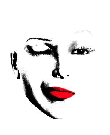 winking: Una semplice immagine di un volto femminile che � occhiolino.