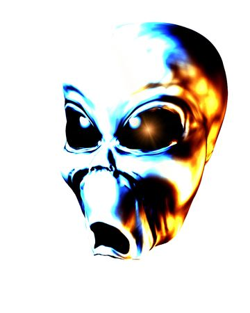 figurative: A computer created image of a grey alien man.