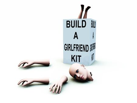 A abstract conceptual image of a kit to build a girlfriend. Stock Photo - 1193872