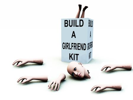 A abstract conceptual image of a kit to build a girlfriend. Stock Photo - 1193874