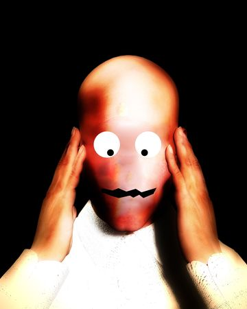 A surreal image of a surreal head. Stock Photo - 1194022