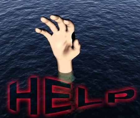 Una imagen de una persona que est� ahog�ndose. Foto de archivo - 1207243