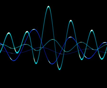 fluctuation: A image of a simple oscillation soundwave.