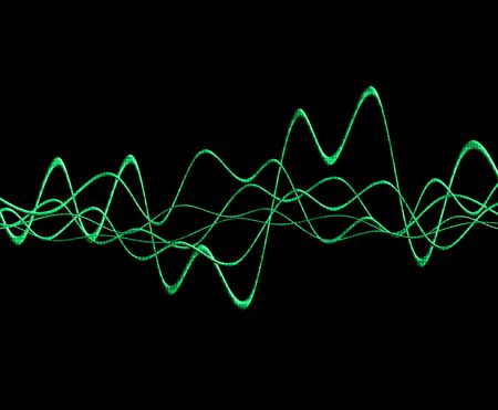 oscillation: A image of a simple oscillation soundwave.