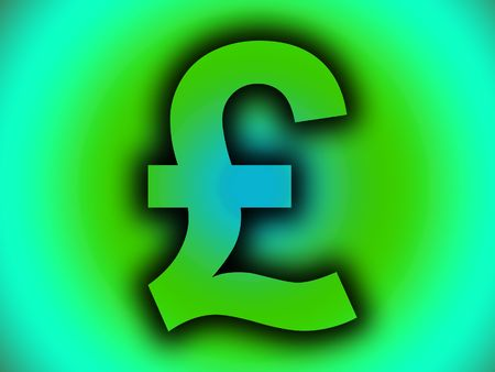 british currency: A image of a British currency pound sign. Stock Photo