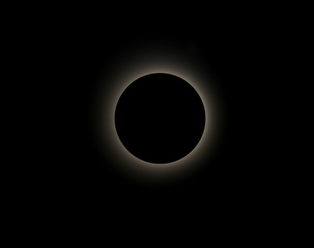 phenomena: An computer created image of a solar eclipse. Stock Photo