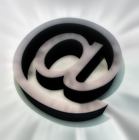 worldwideweb: The symbol that is used in email addresss. Stock Photo