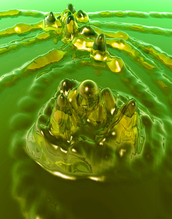splashed: A image of some liquid that has been splashed.