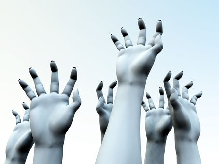 An image for  showing a lot of zombie like hands outreaching Stock Photo - 1829545