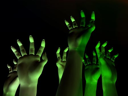 An image for  showing a lot of zombie like hands outreaching Stock Photo - 1829543