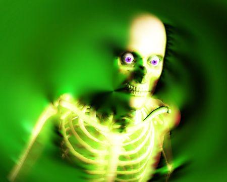 적합: An abstract x-ray image of a person in which you can see the skeleton. A suitable medical or  based image. 스톡 콘텐츠