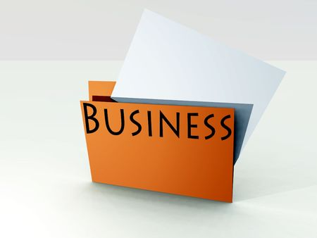 achievable: An image of a business file folder with a sheet of paper coming out of it.
