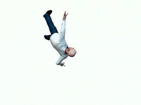 hombre cayendo: El hombre cayendo